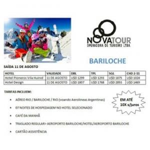 Olha que beleza de pacote! #adoroviajarcomanovatour #bariloche #saidagarantida #11deagosto #pacotesh